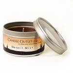 8oz. Round Candle Tin w/Clear Lid - Desert Mist