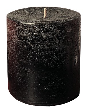 "Black Halloween Candle 3""x3.5"" Unscented"